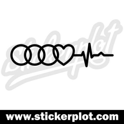 Sticker Audi Love V1