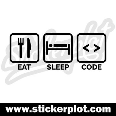 Sticker Eat Sleep Code