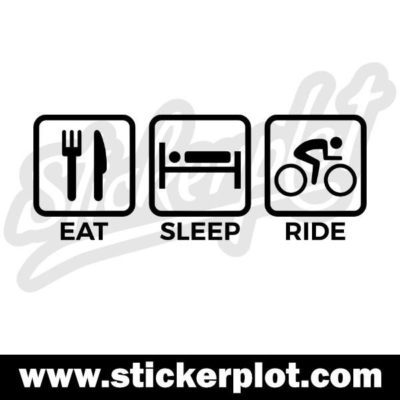 Sticker Eat Sleep Ride