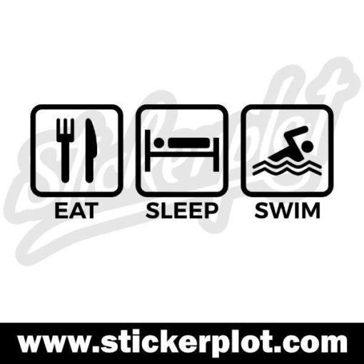 Sticker Eat Sleep Swim
