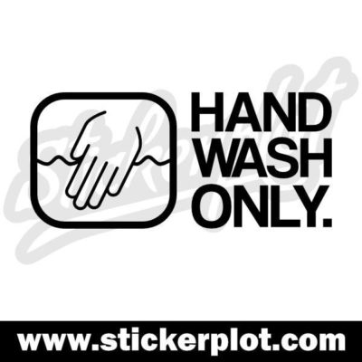 Sticker Hand Wash Only V1