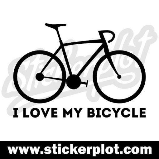 Sticker I love my bicycle