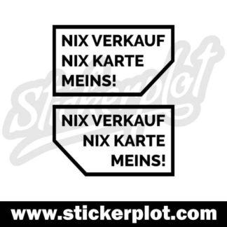 Sticker Nix Verkauf - Nix Karte - Meins