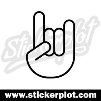 Sticker Rocker Hand