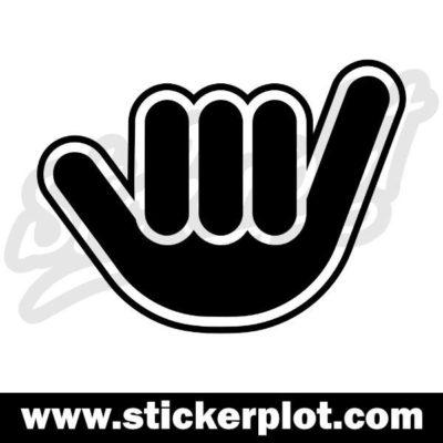 Sticker Shaka - Negativ