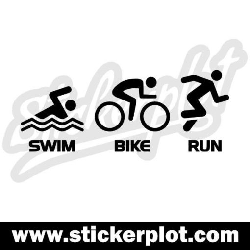 Sticker Swim Bike Run V1