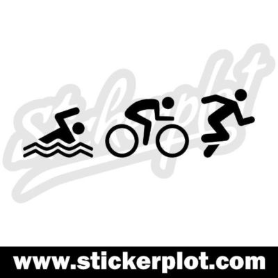 Sticker Swim Bike Run V2