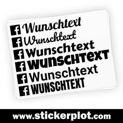 Wunsch-Aufkleber Facebook
