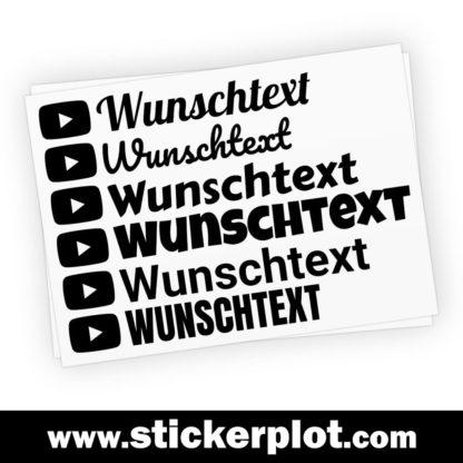 Wunsch-Aufkleber Youtube