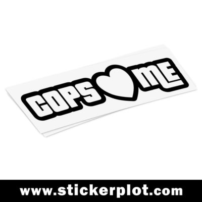 Sticker Cops Love Me